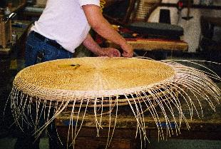 restorationof a rattan wicker table top